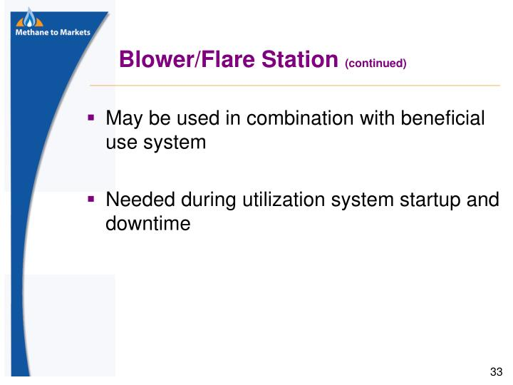 Blower/Flare Station
