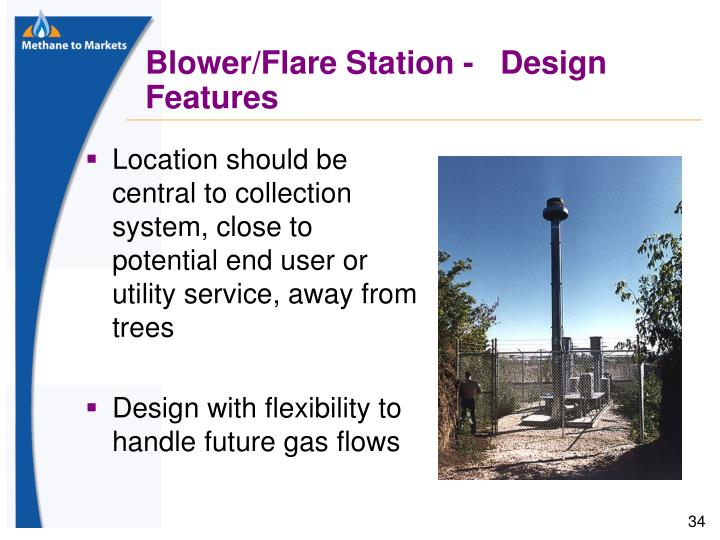 Location should be central to collection system, close to potential end user or utility service, away from trees