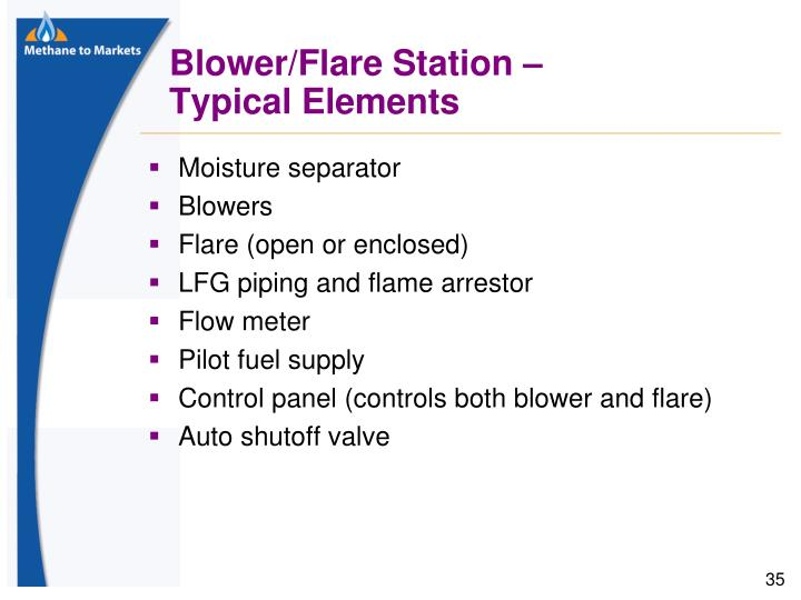 Blower/Flare Station –
