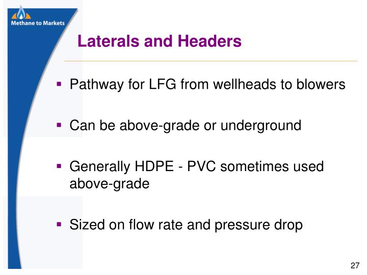 Laterals and Headers