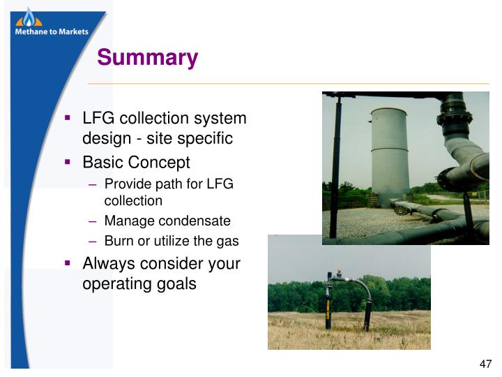 LFG collection system design - site specific