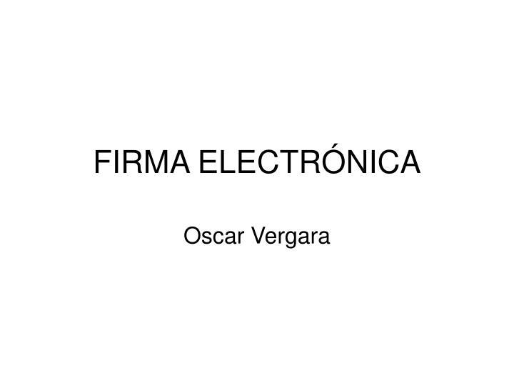 firma electr nica