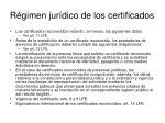 r gimen jur dico de los certificados