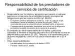 responsabilidad de los prestadores de servicios de certificaci n