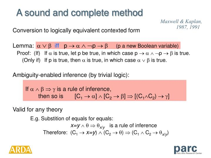 Ambiguity-enabled inference (by trivial logic):