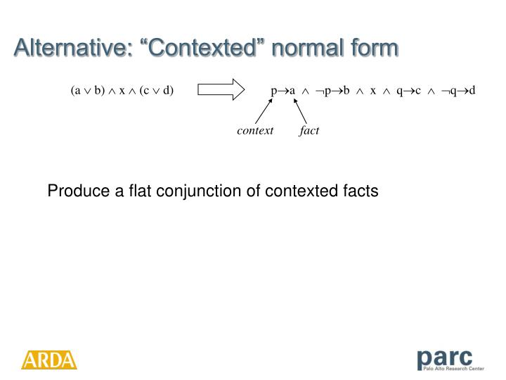 """Alternative: """"Contexted"""" normal form"""