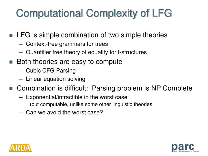Computational Complexity of LFG