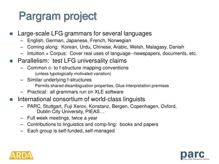 Pargram project