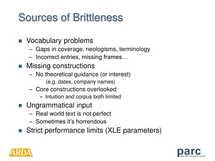 Sources of Brittleness