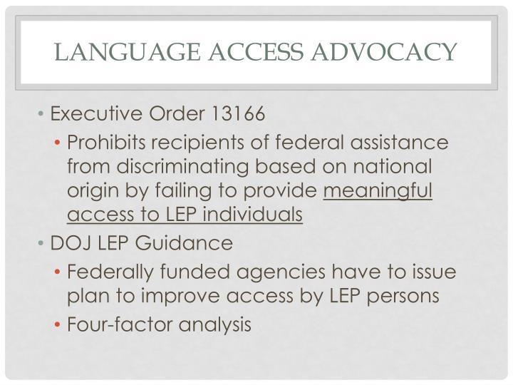 Language Access Advocacy