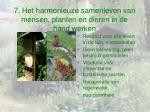 7 het harmonieuze samenleven van mensen planten en dieren in de hand werken