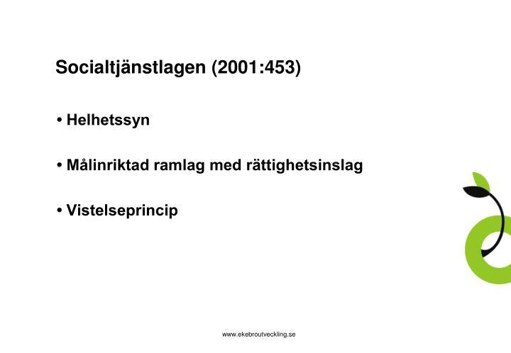 Socialtjänstlagen (2001:453)