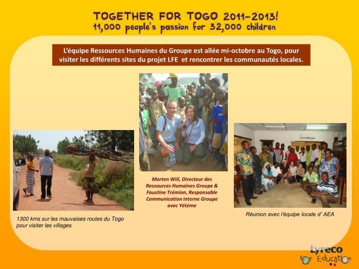 L'équipe Ressources Humaines du Groupe est allée mi-octobre au Togo, pour visiter les différents sites du projet LFE  et rencontrer les communautés locales.
