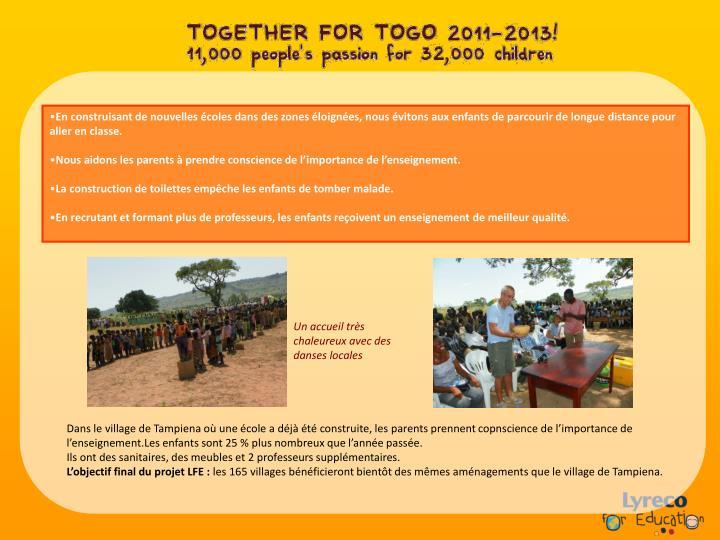 En construisant de nouvelles écoles dans des zones éloignées, nous évitons aux enfants de parcourir de longue distance pour aller en classe.