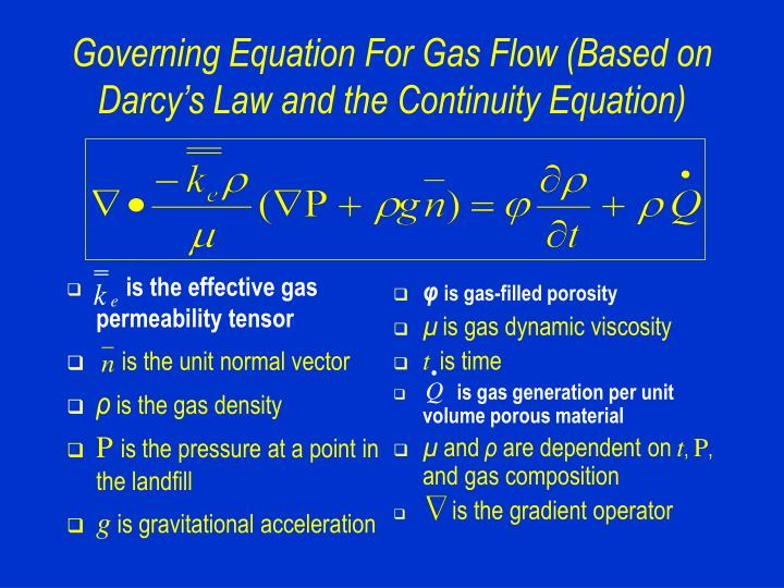 is the effective gas permeability tensor