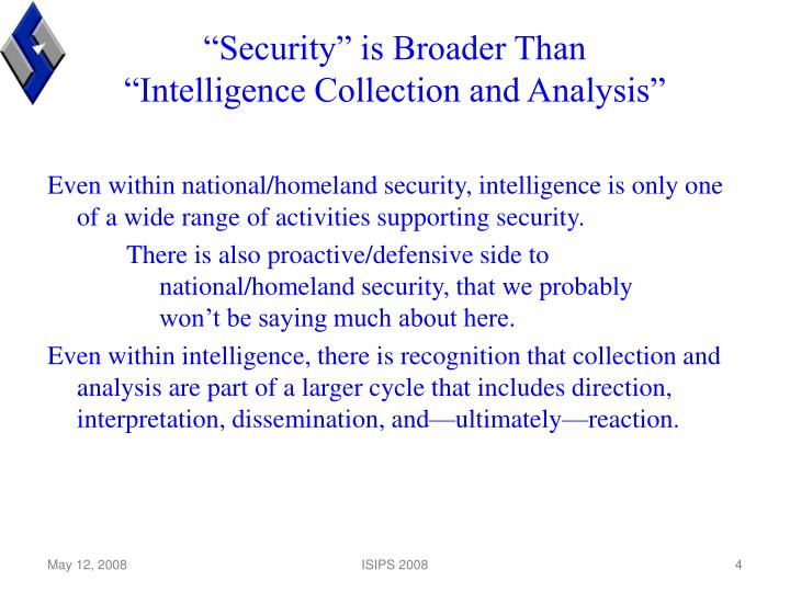 """""""Security"""" is Broader Than"""