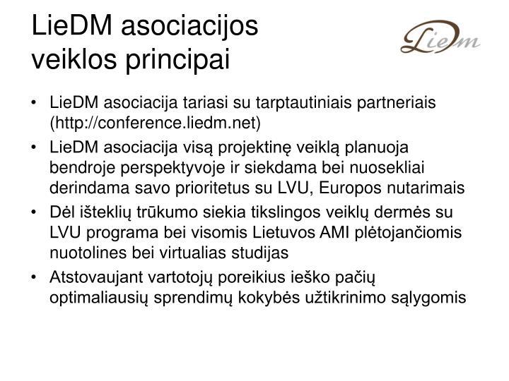 LieDM asociacijos