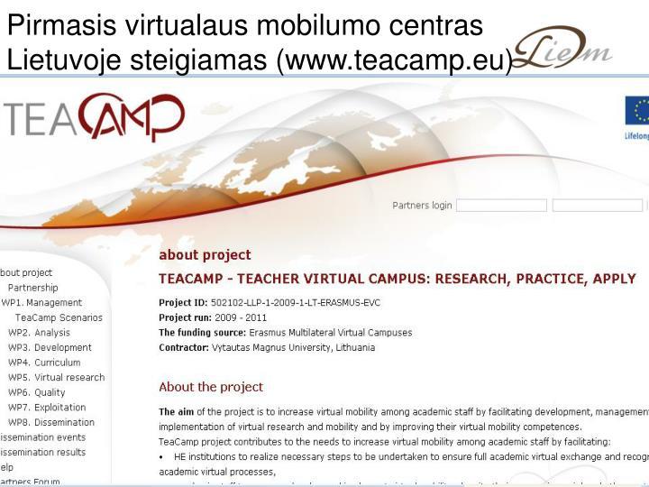 Pirmasis virtualaus mobilumo centras Lietuvoje steigiamas (www.teacamp.eu)