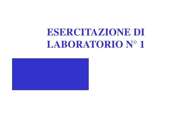 ESERCITAZIONE DI LABORATORIO N° 1
