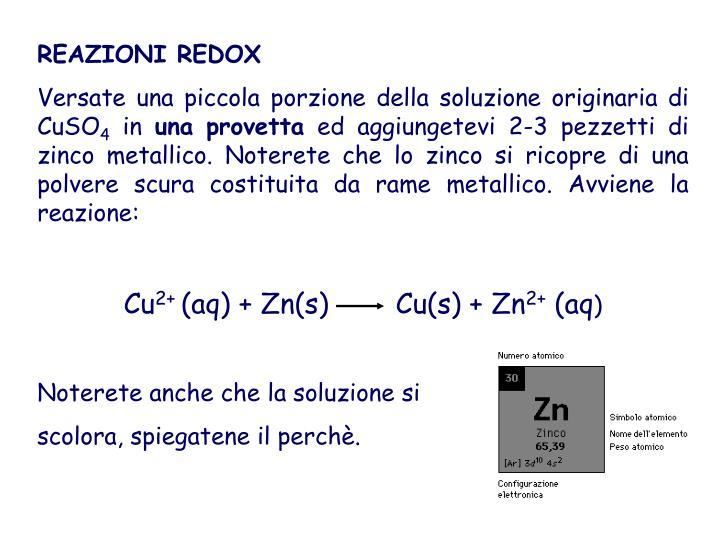 REAZIONI REDOX