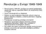 revolucije u evropi 1848 1849