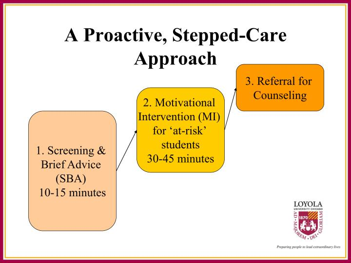 A Proactive, Stepped-Care Approach