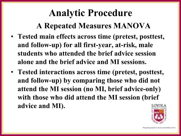 A Repeated Measures MANOVA