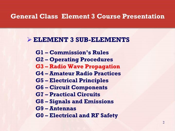 General Class  Element 3 Course Presentation