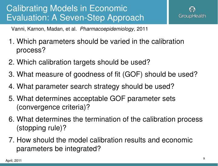 Calibrating Models in Economic