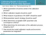 calibrating models in economic evaluation a seven step approach