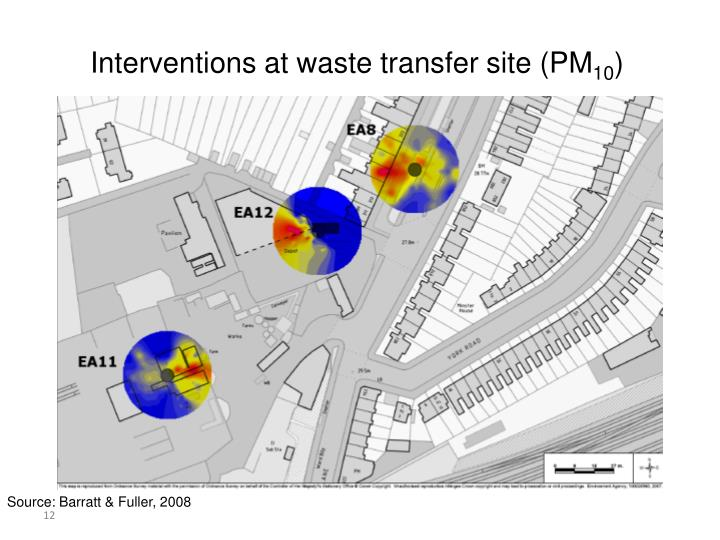 Interventions at waste transfer site (PM