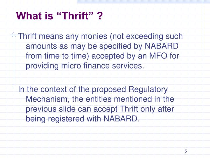 """What is """"Thrift"""" ?"""
