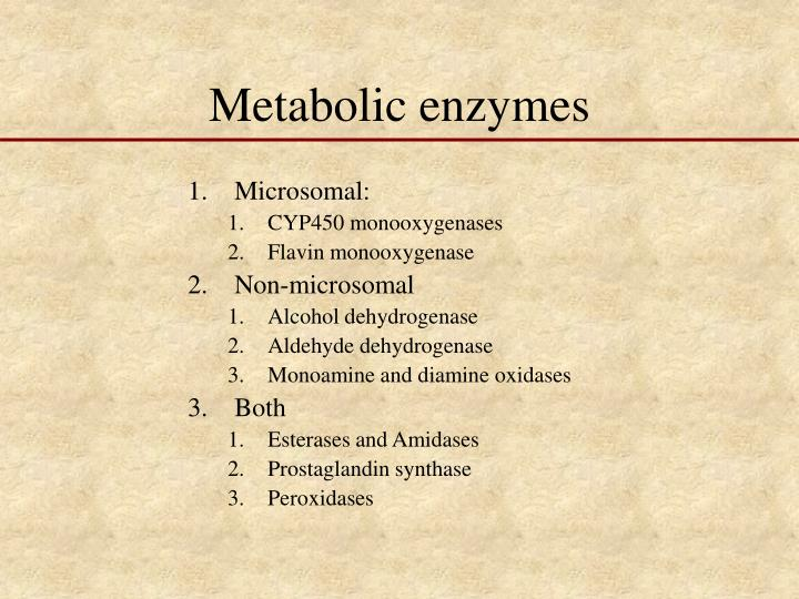 Metabolic enzymes
