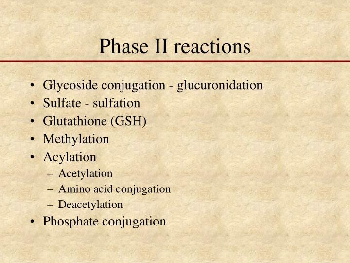 Phase II reactions