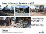 impact on accelerator operations darht