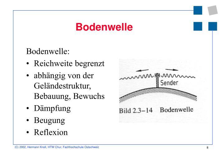 Bodenwelle