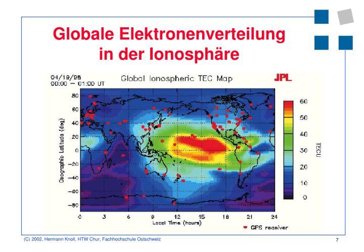 Globale Elektronenverteilung