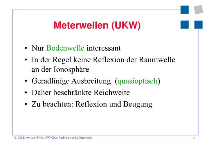 Meterwellen (UKW)