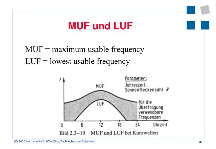 MUF und LUF