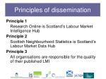principles of dissemination