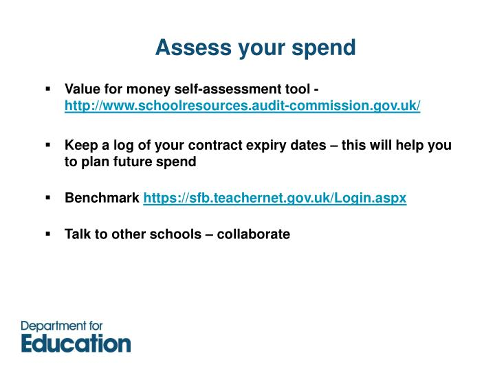 Assess your spend