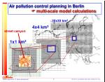 air pollution control planning in berlin multi scale model calculations