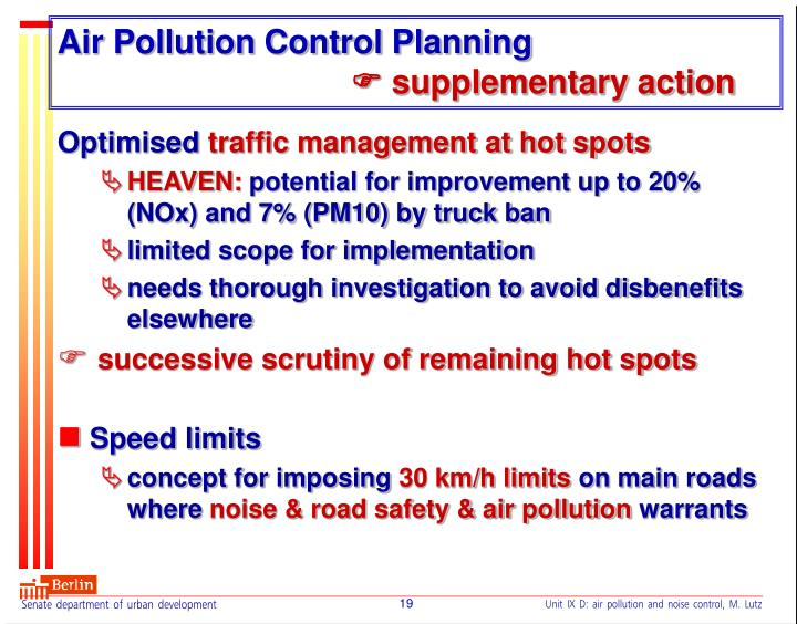 Air Pollution Control Planning