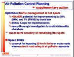 air pollution control planning supplementary action