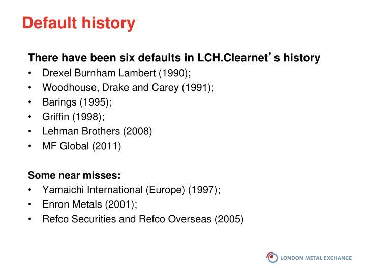 Default history