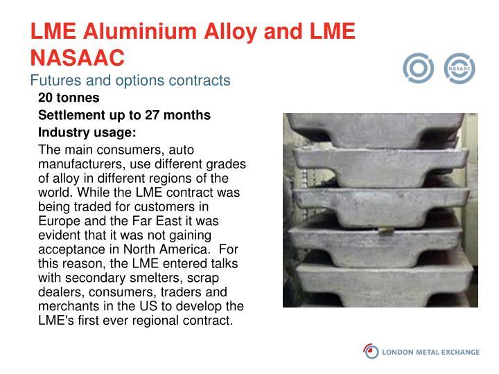 LME Aluminium Alloy and LME NASAAC