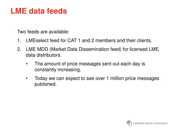 LME data feeds