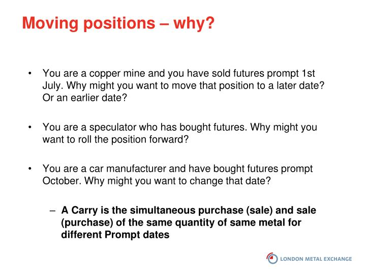 Moving positions – why?
