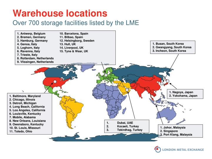 Warehouse locations