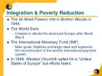 integration poverty reduction